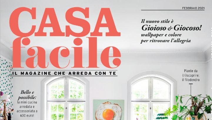 CasaFacile, un dettaglio della cover di febbraio