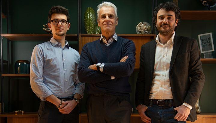 Da sinistra, i soci di Conic: Matteo Meneghetti, Alberto De Martini e Francesco Nenna
