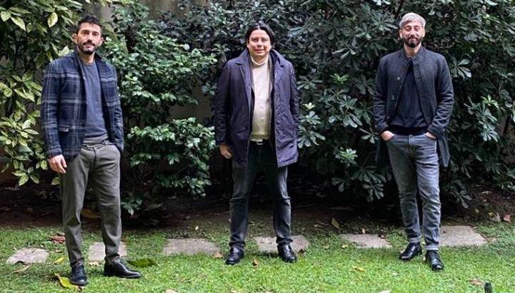 Da sinistra: Paolo De Santis, Davide Tran e Stefano Argiolas