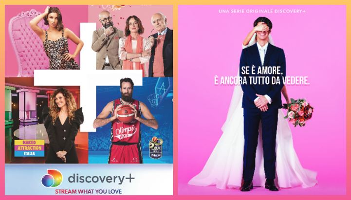 Alcuni soggetti della campagna pubblicitaria di discovery+