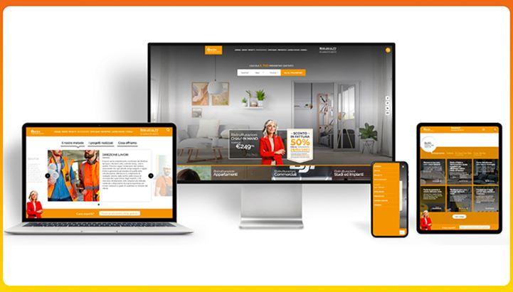 Alcune immagini del nuovo sito web di Facile Ristrutturare realizzato da Advertoo
