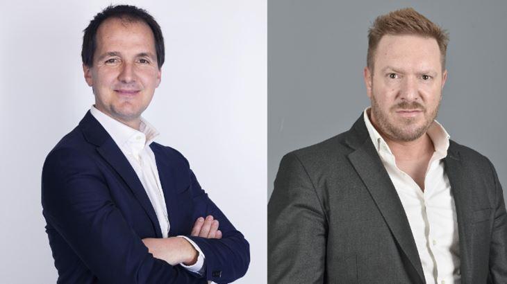 Bertrand Galbiati, Direttore Generale di Fluidnext, e Davide Volpi, Head of Media Fluidnext