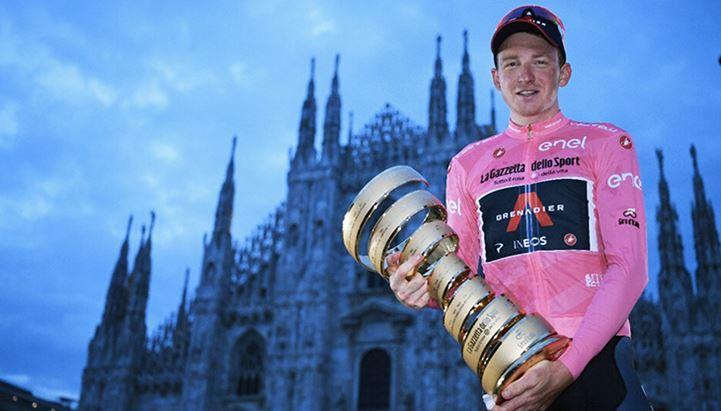 Il vincitore del Giro d'Italia 2020, Tao Geoghegan Hart