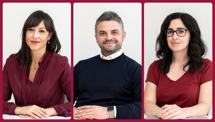 Da sinistra, Elisa Lupo, Giuseppe Vigorito e Cecilia Vanoletti di IAS