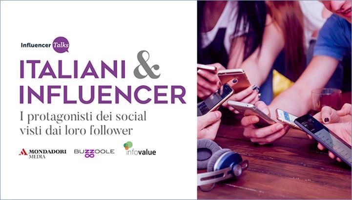 """""""Italiani & Influencer"""" è il titolo della ricerca realizzata da Buzzoole, InfoValue e Mondadori Media"""