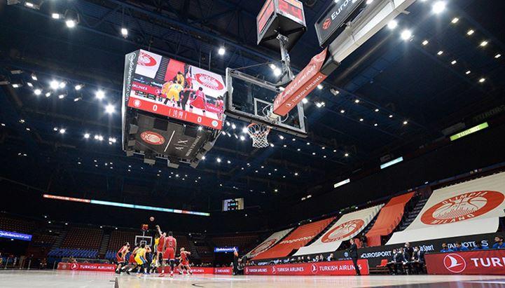 La scenografia digitale allestita al Mediolanum Forum da FluidNext Sport e Tecnovision