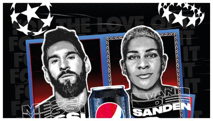 Leo Messi e Shanice Van de Sanden sono tra le stelle del nuovo spot Pepsi Max