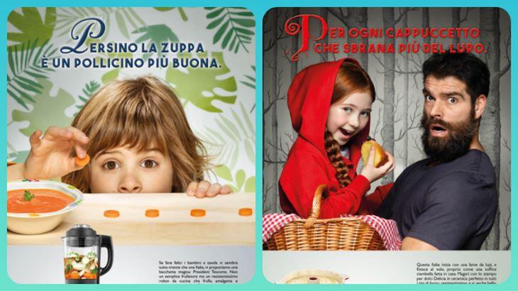 La nuova pubblicità Tescoma: due dettagli delle creatività