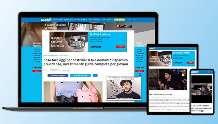 UniCredit e Skuola.net insieme per promuovere l'educazione finanziaria tra i giovani