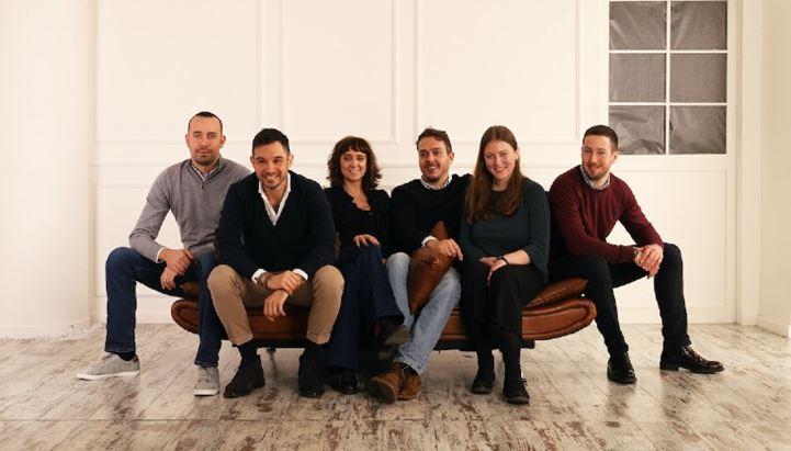 Il team di EikonTech: da sinistra Andrea Spinelli, Giuseppe Astorino, Cristina Corti, Davide Tarabelloni, Laura Rapino, Michele Sabbatini