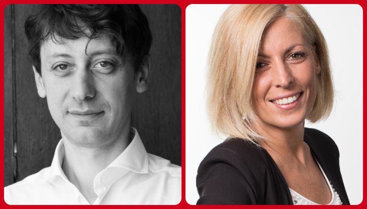 Da sinistra, Giorgio Chiaramonte e Cristina Ughes, le due new entry di Starcom Italia