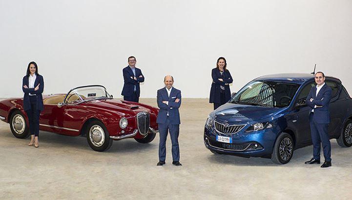 Il team di Lancia. Da sinistra: Erica V. Ferraioli, Yann Chabert, Luca Napolitano, Roberta Zerbi e Paolo Loiotile
