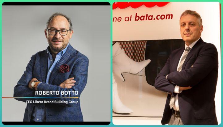 Roberto Botto e Claudio Alessi, presidente di Bata Europa
