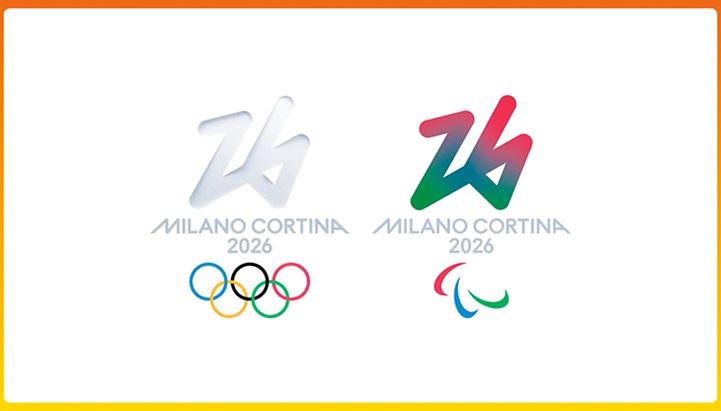 I simboli delle Olimpiadi e delle Paralimpiadi invernali Milano-Cortina 2026