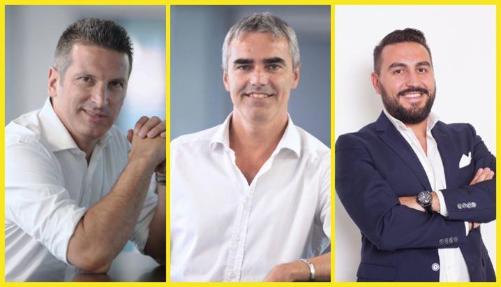 Da sinistra, Alessandro Talenti, Luca Colombi e Giancarlo Sampietro