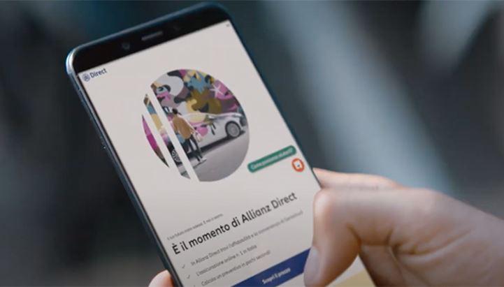 Un frame del nuovo spot di Allianz Direct