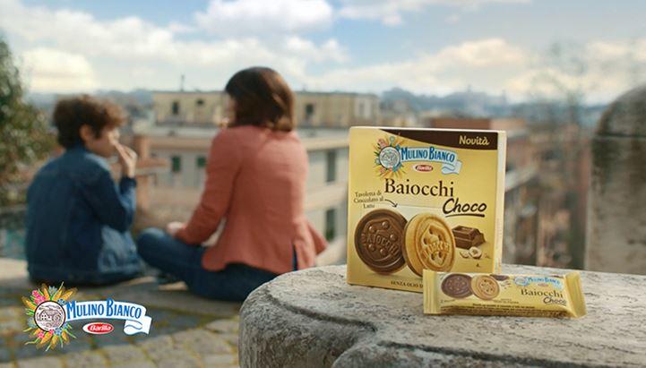 Un frame del nuovo spot dedicato ai Baiocchi Choco