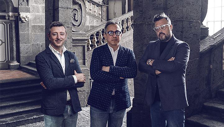 Da sinistra, Francesco Manfredi e Alessandro e Carmine Pianelli