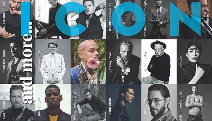 Un dettaglio della copertina dell'Anniversary Issue di Icon