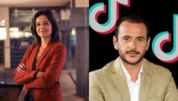 Anna Gavazzi, Direttore Generale di OBE, e Adriano Accardo, Managing Director, Global Business Solutions, TikTok Southern Europe
