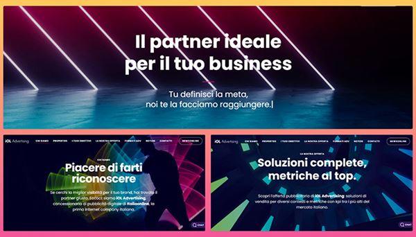 Alcune immagini del nuovo dito di iOL Advertising