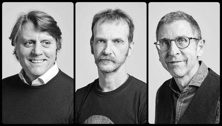 I tre soci di MullenLowe Group Italy: Diego Ricchiuti, Nicola Rovetta e Luca Grigolli
