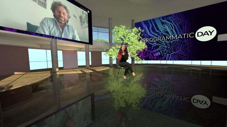 Un momento del Programmatic Day 2021: Alessandra La Rosa intervista Michele Petrillo di Sky Italia