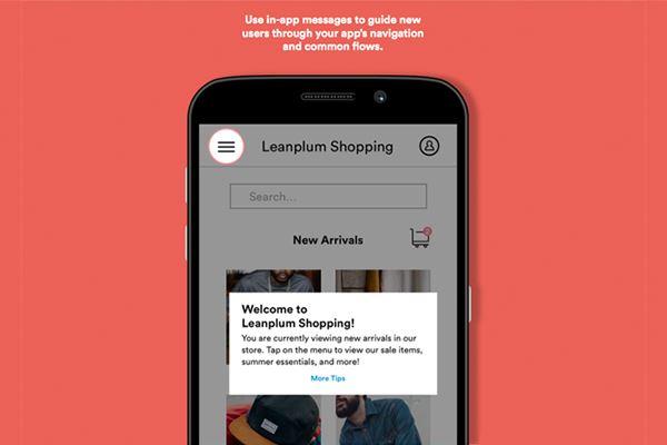 Esempio di un'app message - fonte Leanplum