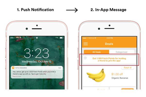 Push notification + In-app message - Fonte Leanplum