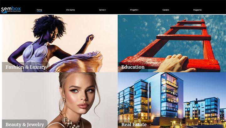 Un'immagine del nuovo sito di Sembox
