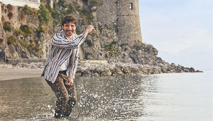 Stefano De Martino nella nuova campagna pubblicitaria Gutteridge