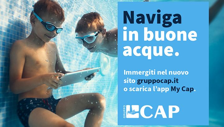 "La partnership tra Gruppo CAP e Melismelis comincia con la campagna ""Naviga in Buone Acque"""