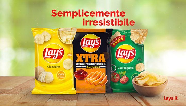 """Lay's riporta online gli spot della serie """"Semplicemente irresistibile"""" per le Classiche e la ricetta Campagnola"""