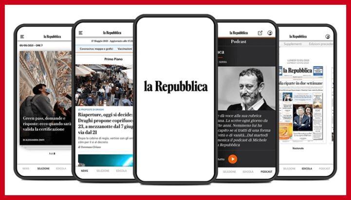 La nuova app di Repubblica.it
