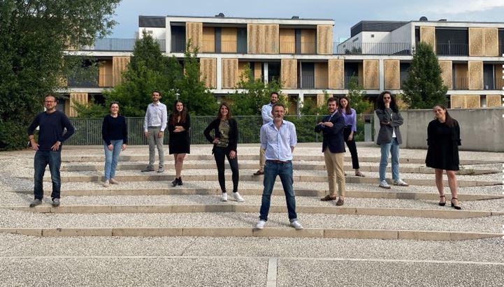 Il team di MediaCom Creative Systems. In primo piano Pierfrancesco Petrosillo