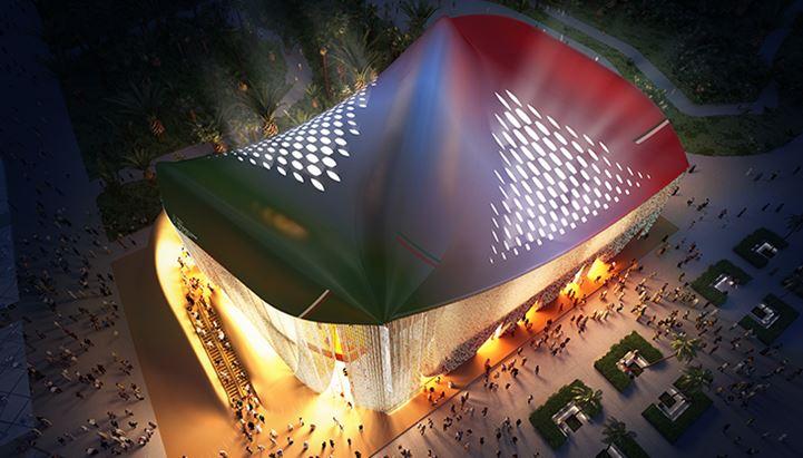 Il padiglione Italia a Expo 2020 Dubai (crediti Massimo Sestini, render Padiglione Italia)