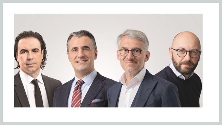 Da sinistra Andrea Barchiesi, Carlo Luison, Auro Palomba e Michele Lorenzi