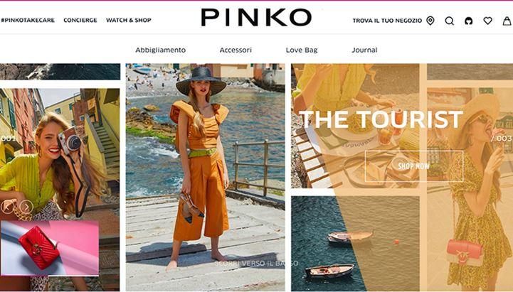 Un'immagine del sito di Pinko