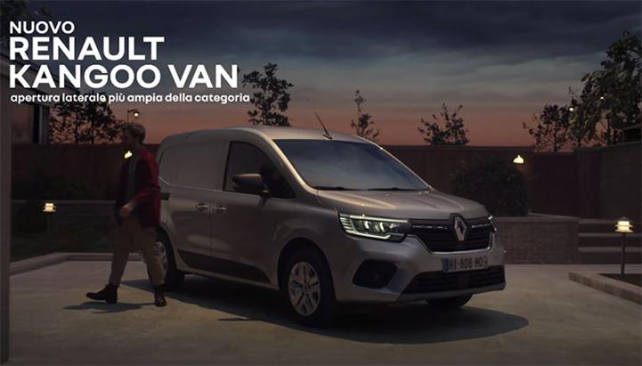 Un frame dello spot dedicato al nuovo Renault Kangoo Van