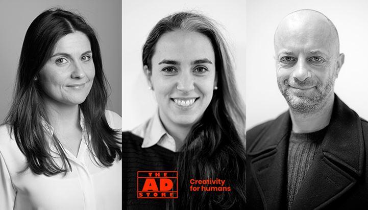In foto Sara Osti, Martina Uggeri e Stefano Adorni, new entry di The Ad Store Italia