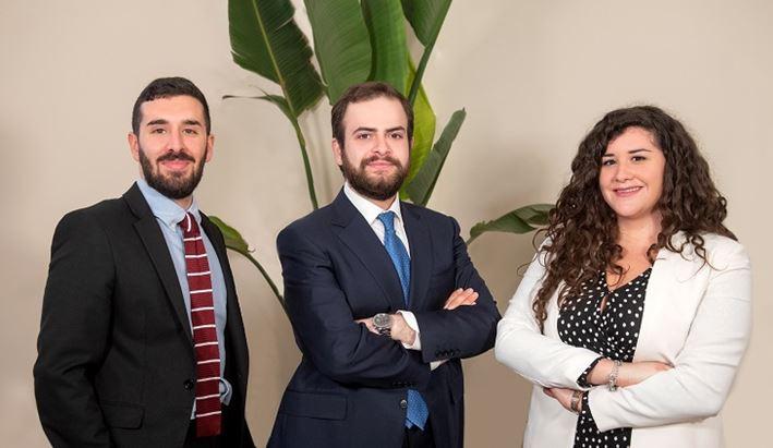 Valerio Carletti, Dario Tasca e Chiara Palumbo, parte del team di Comunicazione legale di The Skill