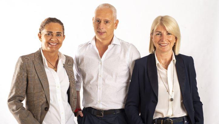 Da sinistra, Federica Perinetti, Filippo Fratti e Laura Orazi