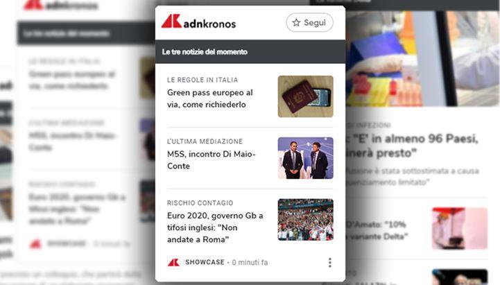 Adnkronos prima agenzia di stampa in Italia a entrare in Google News Showcase
