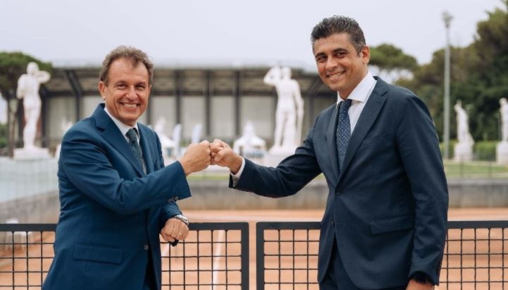 Da sinistra, Vito Cozzoli di Sport e Salute e Igor Nuzzi di Lavazza