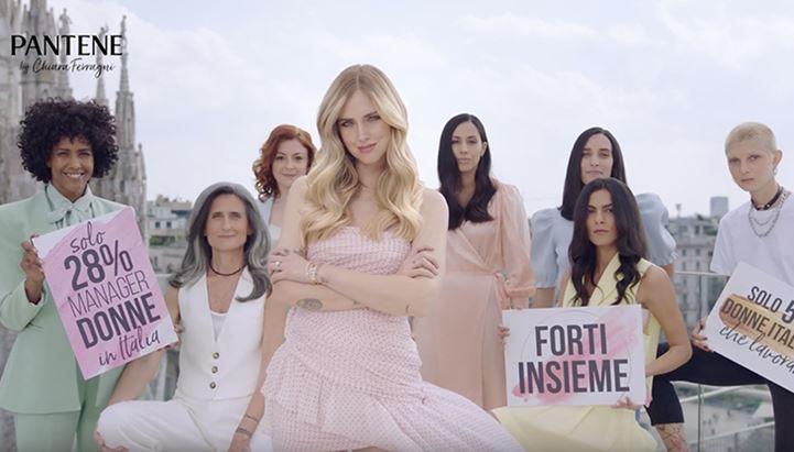 Chiara Ferragni nello spot Pantene per Forti Insieme