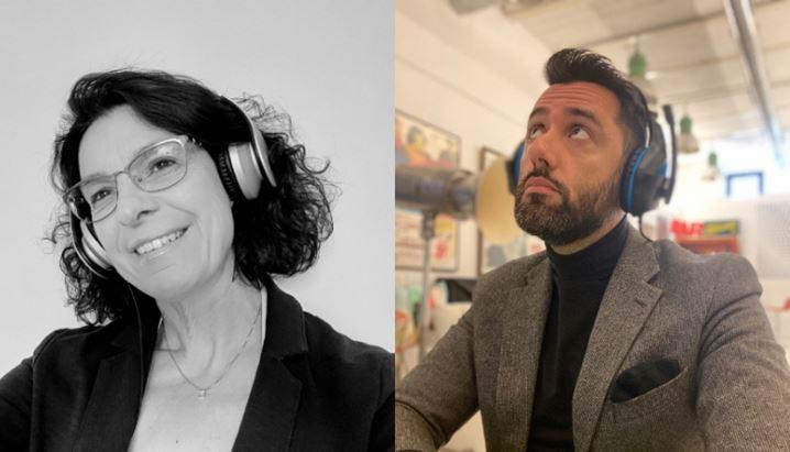 Cristina Pianura, Co-founder e Ceo di Audioboost, e Davide Schioppa, Ceo di Podcastory