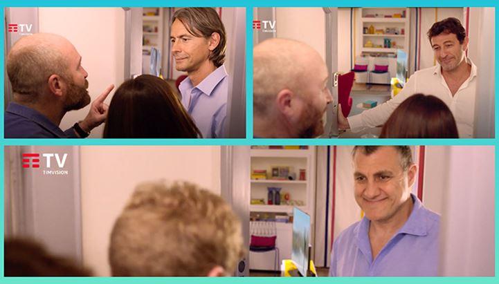 Protagonisti degli spot TimVision sono Filippo Inzaghi, Ciro Ferrara e Bobo Vieri