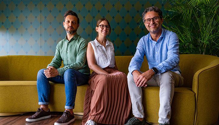 Maurizio Tozzini, Samanta Giuliani e Stefano Pagani di The Story Lab