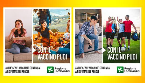 Alcune immagini della campagna web realizzata dalla Regione Lombardia