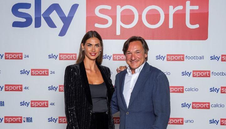 Melissa Satta, new entry nella squadra sportiva di Sky, con Fabio Caressa